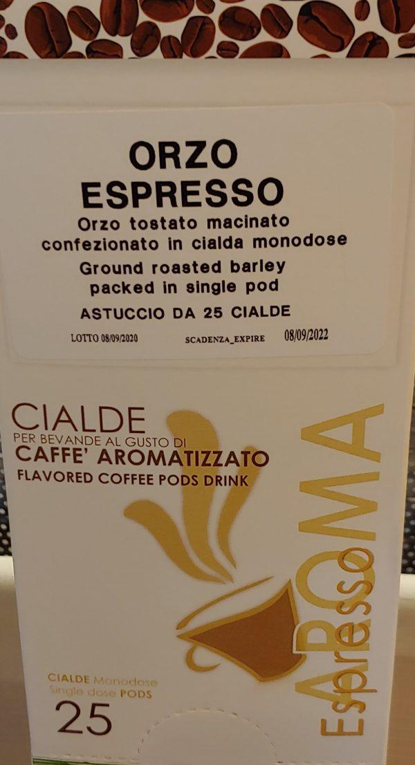Caffe D'orzo Cialda Monodose Di Orzo Tostato e Macinato 25 pz (ESE 44 )