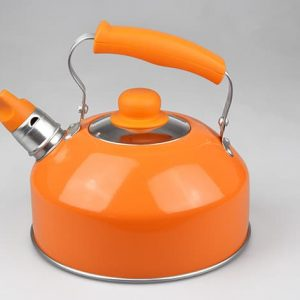Bollitore Excelsa Vari Colori con Fischietto da lt 2 Arancio