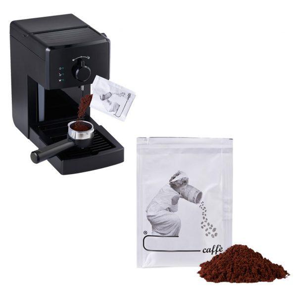 Bustine di caffè macinato sottovuoto per macchina da caffè con sottocoppa