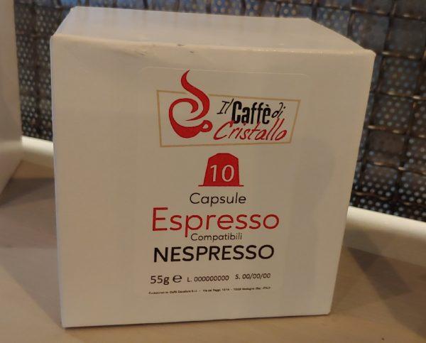 Capsule Caffè Il Caffe Di Cristallo Miscela Espresso Bar Compatibili Nespresso pz 10