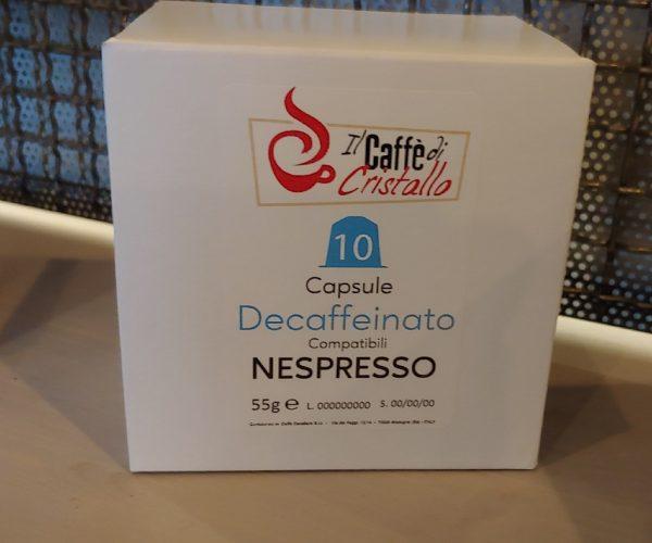 Capsule Caffè Il Caffe Di Cristallo Miscela Decaffeinato Compatibili Nespresso pz 10