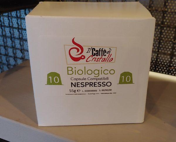 Capsule Caffè Il Caffe Di Cristallo Miscela Biologico Compatibili Nespresso pz 10