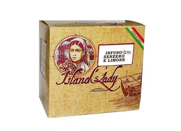 INFUSO Island's Lady Linea Professionale Box 15 Filtri Piramidali INFUSO ZENZERO E LIMONE