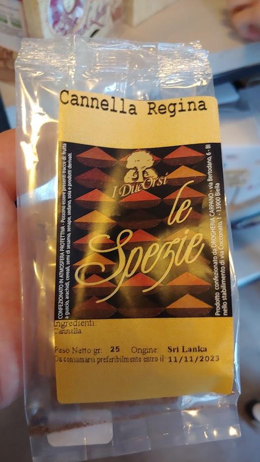 Spezie I Due Orsi Cannella Regina 25 CM