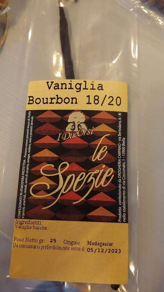Spezie I Due Orsi Vaniglia Bourbon 1820 del Madagascar 25 gr