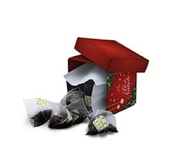 Té Di Natale Cubotto Natalizio con 10 Filtri Piramidali